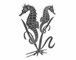 Plasma Cut Seahorses, Steel Animal Cutouts.