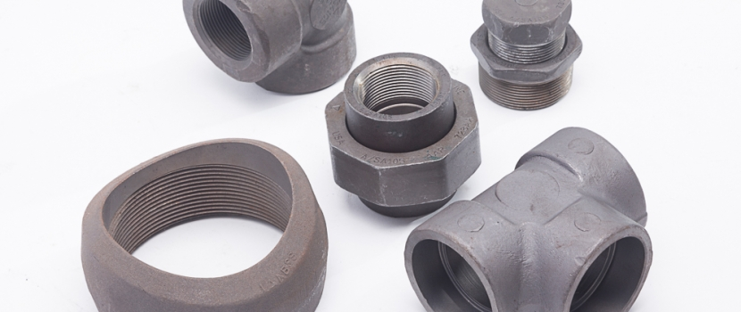 Five different forged steel fittings.