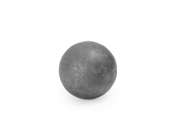Solid Smooth Sphere made out of Forged Steel.