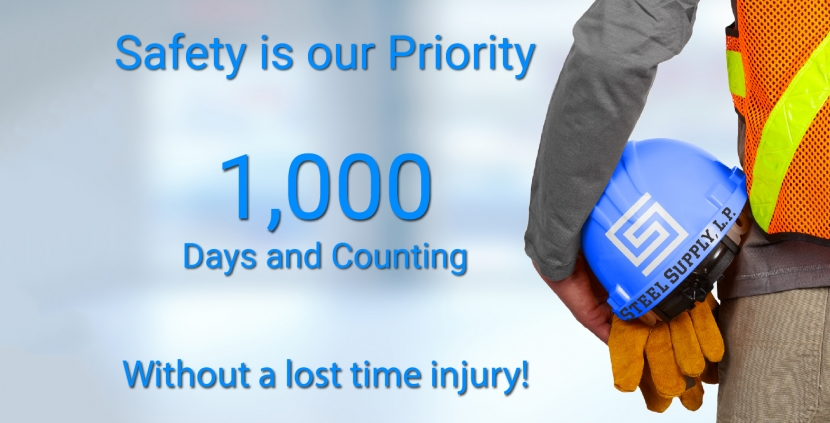 Safety is our priority. 1000 days and counting without time lost to injury.