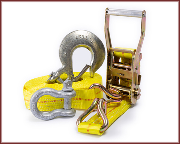 D-Rings, Clevis Grab Hooks, Load Binders, and Ratchet Straps.