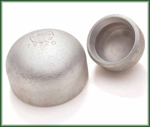 Two Aluminum Buttweld Caps in different sizes.