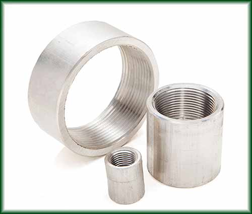 Three different sizes of Aluminum Couplings.