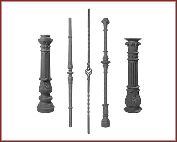 Five different Balusters and Postings.