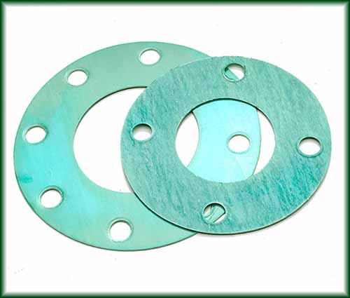 Two different Full Face Gaskets made of non-asbestos material.