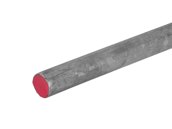 1 inch galvanized hot rolled round bar that is 20 feet long