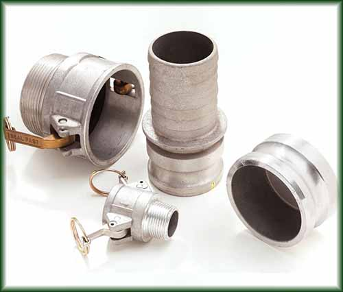 Four types of Aluminum Cam and Groove Couplings in different sizes from 1/2