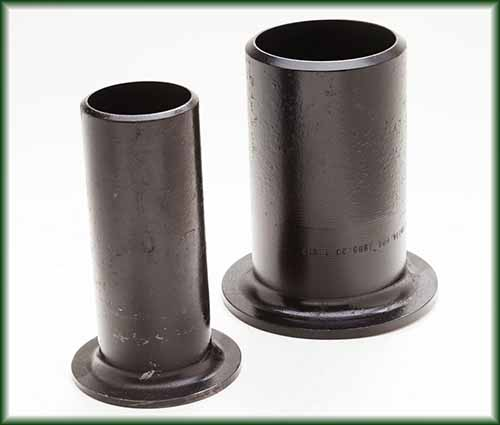 Two Stub Ends with Lap Joint Flanges.