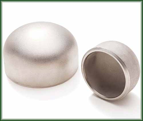 Two different sizes of Stainless Buttweld Caps.