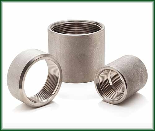 Three different sizes of Cast Stainless Couplings.
