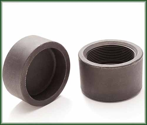 Two different Forged Steel Caps as Socket Weld and Threaded.