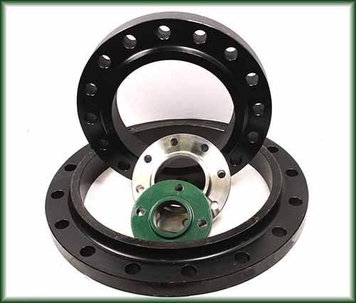 Four different Slip On Flanges.