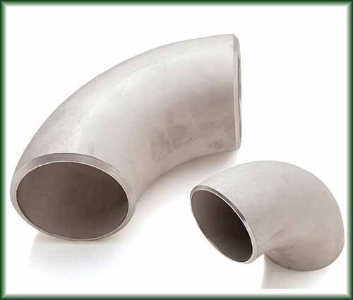 Two Stainless Buttweld Elbows.