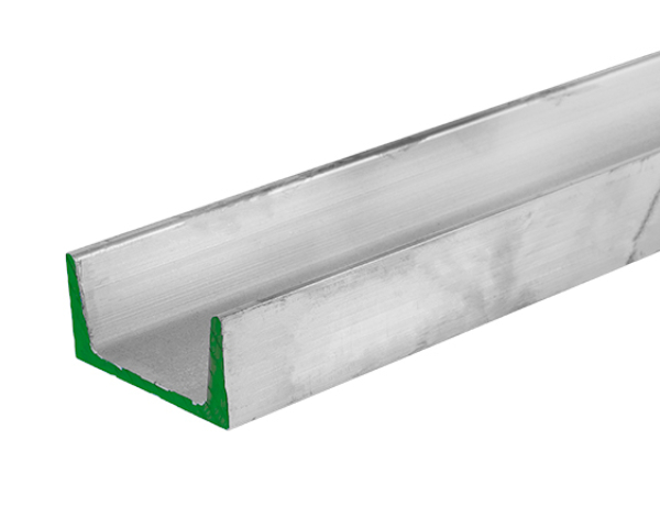4 inch wide 6061-T6 Aluminum Channel with flanges that are 1.58 inches high and  .180 inches tall and 25 feet long