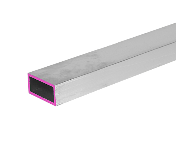 Aluminum Rectangular Tubing 2 inch by 1 inch by 1/4 inch wall