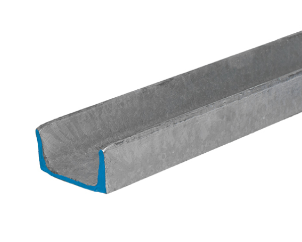 3 inch wide hot-dipped galvanized steel channel that is 4.1 lbs per foot and 20 feet long