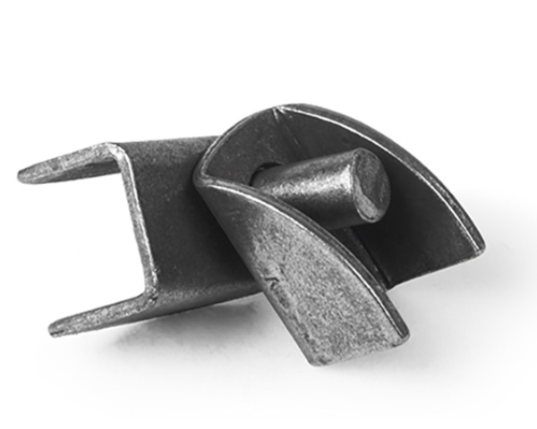 A Female Batwing Hinge and a Male Batwing Hinge.