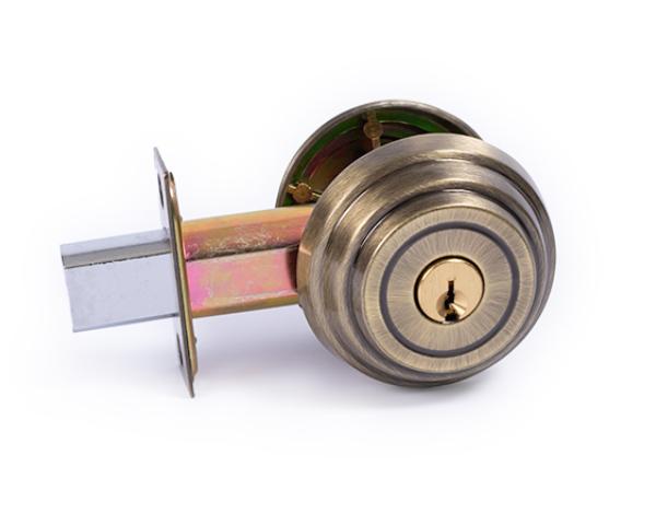 Antique Brass deadbolt lock. DC-5 DBL CYL AB DEADBOLT