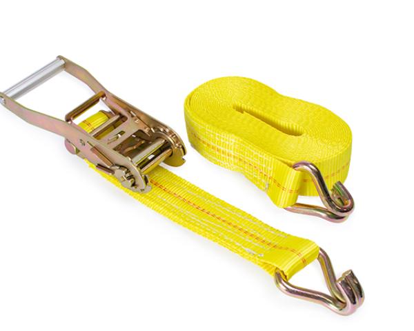 Tie Down Straps also called Ratchet Straps, Lashing Straps or Tie Downs.