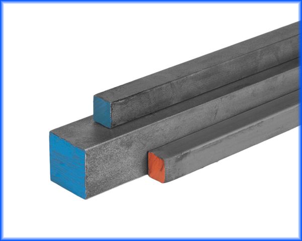 2 inch steel square bar, 1 inch hot rolled square, 1 inch cold draw square bar