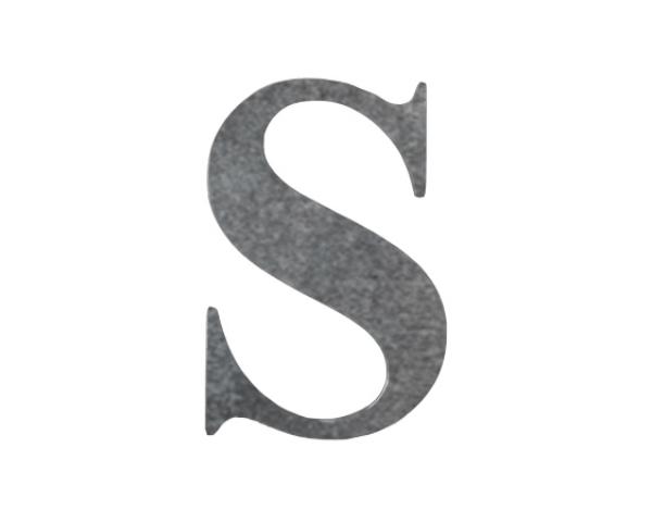 Steel Letter 'S' Cutout.