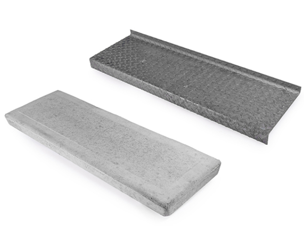 Floorplate and concrete steps.