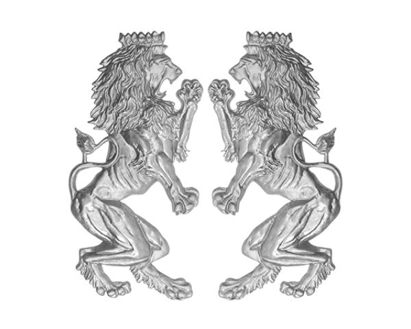 Alum Leo Brittanicc Lion Pair Plaques
