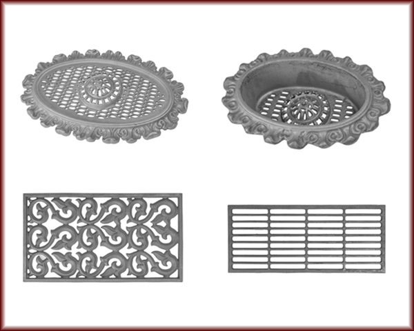 Decorative wall vents, ceiling, and floor vents for foundations, air conditioning, and heating systems.