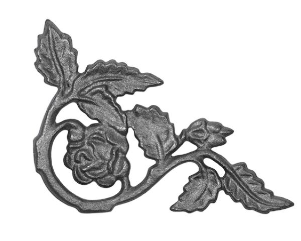 Decorative Iron Corner Casting, Rose Corner Casting