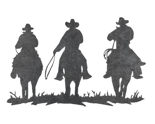 Plasma Cut 'Three Amigos' Steel Cutout