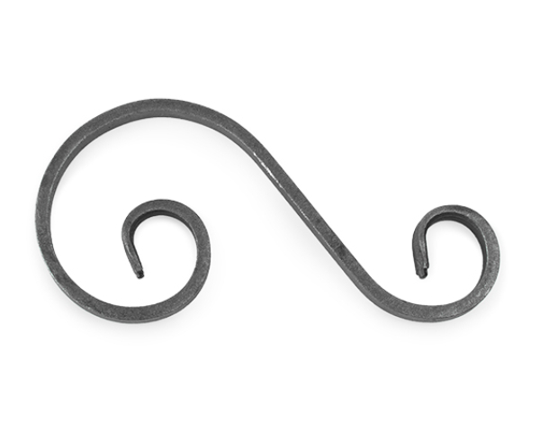 Forged Steel S-Scroll, 'S' with ham ends scroll.