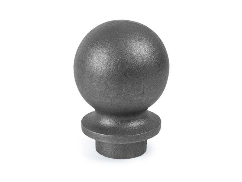 Cast iron 2 inch round ball cap