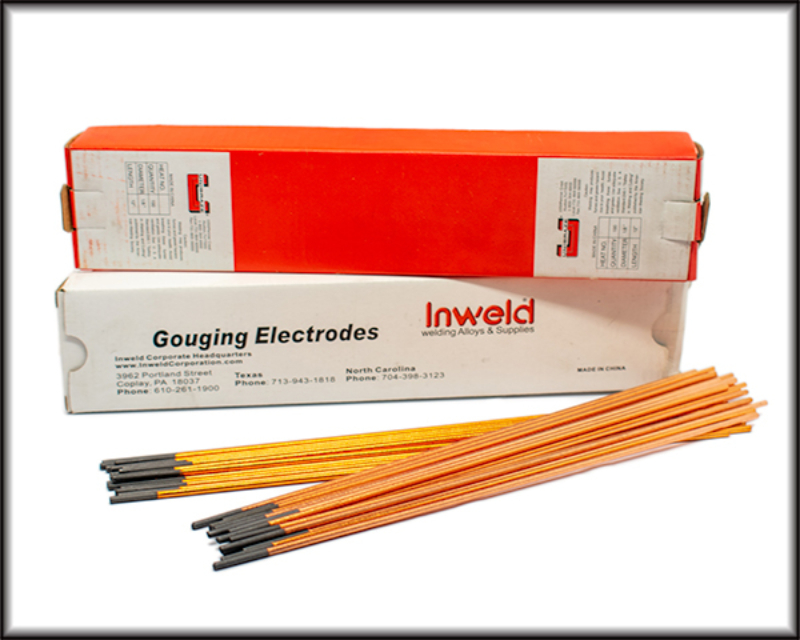 Gouging electric rods w border