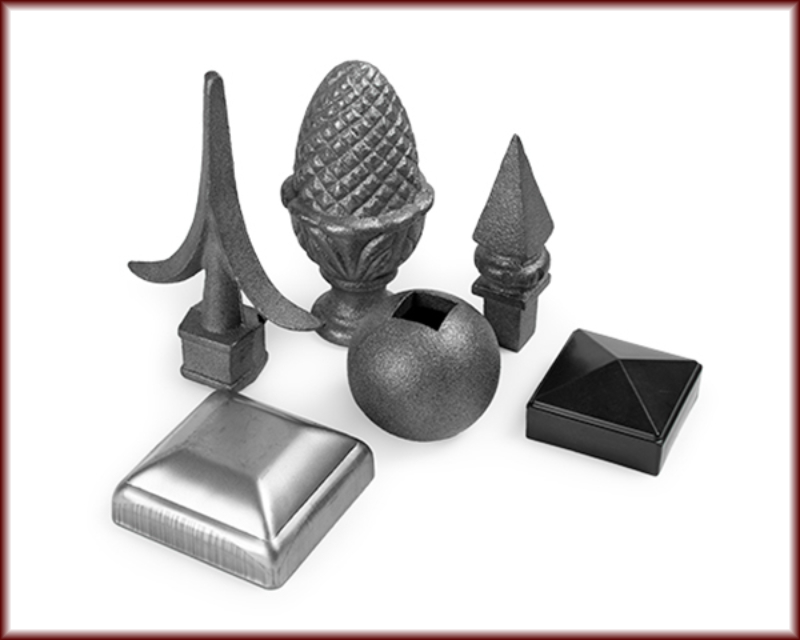Spears caps and finials