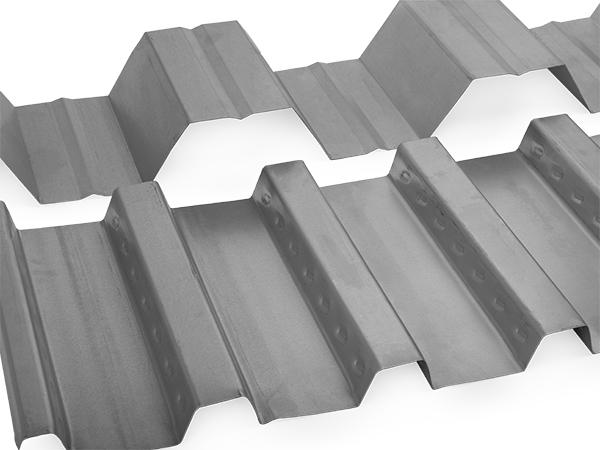 heavy gauge metal building panel for floor and roof decks.