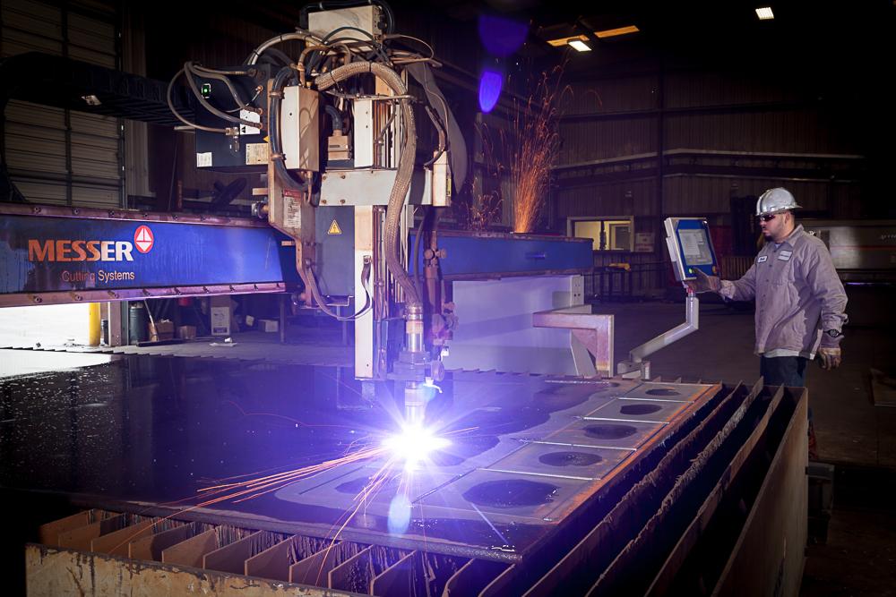 Plasma Cutting Steel