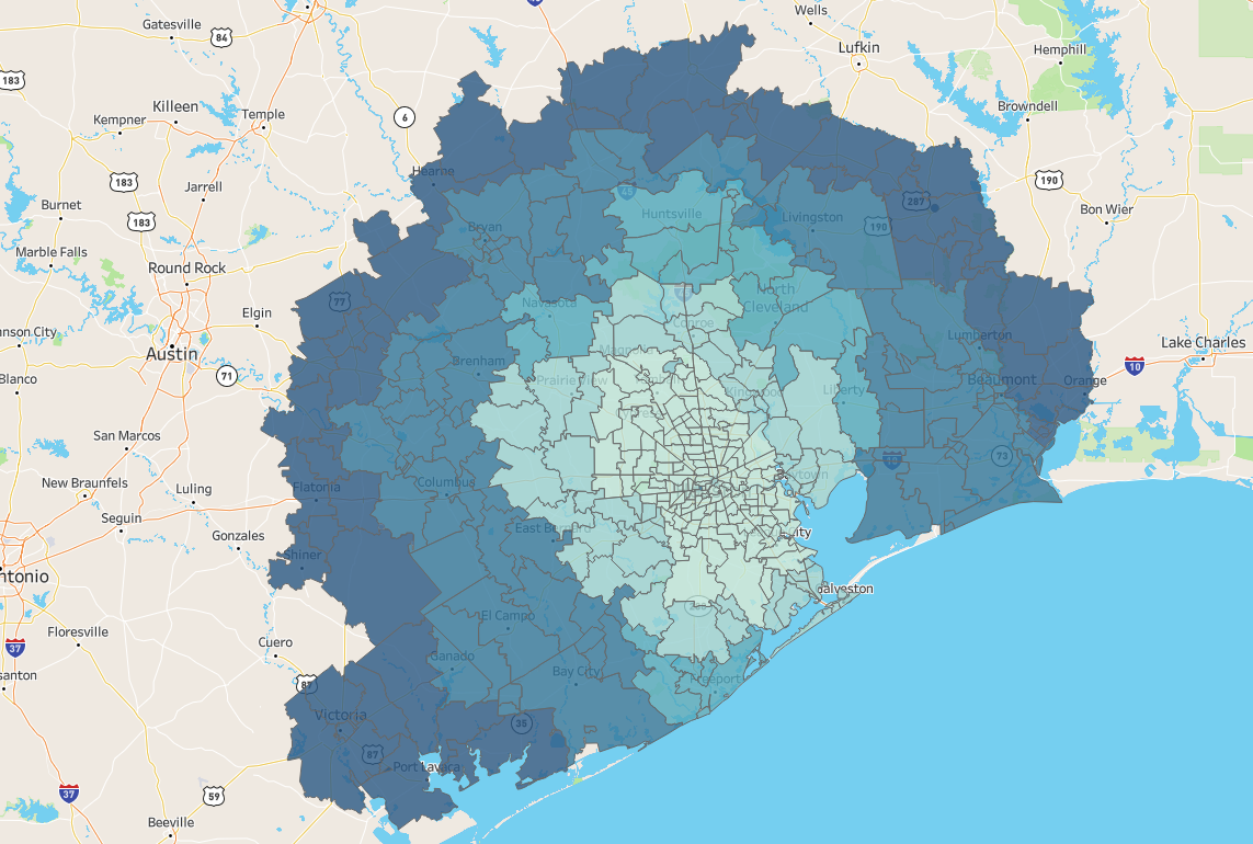 Houston map delivery