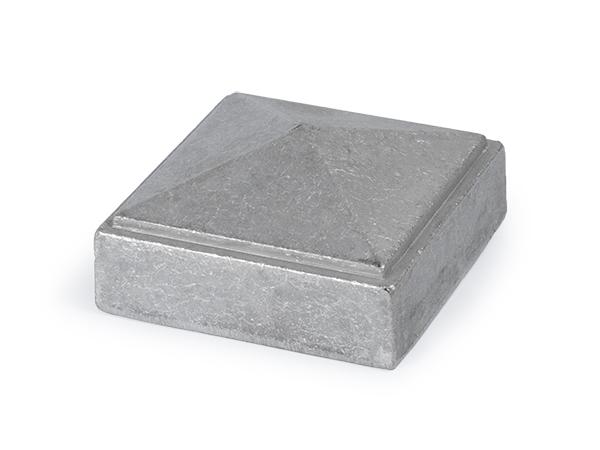 Aluminum newel cap fits, 4 inch