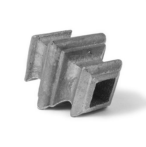 Aluminum square baluster collar, 0.5-Inch