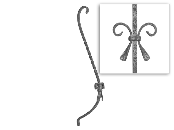Baluster belly with twist and scrolls, 29.5-inches