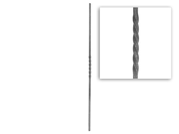 Baluster single twist, 39.5 inch