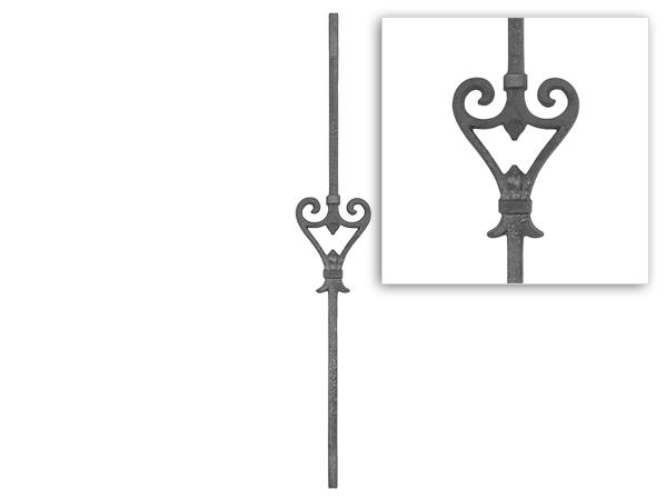 Baluster cast iron railing, 36 inch