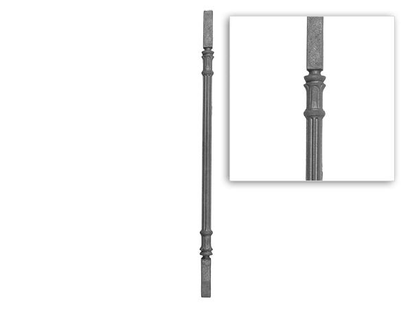 Cast iron railing baluster