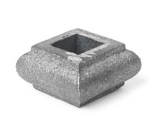 Cast iron short square baluster collar, 0.5 inch