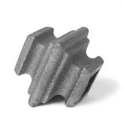 Cast iron square baluster collar, 0.625 inch