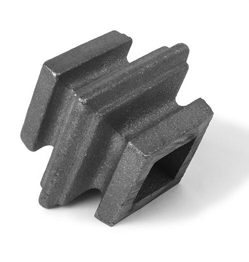 Cast iron square baluster collar, 1 inch