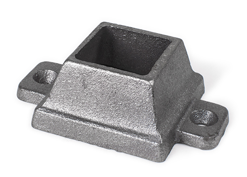 Cast irons square shoe, 2 ear 1.25 inch