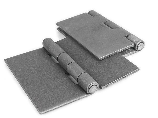 Heavy-duty weld hinge, 6-inch pair