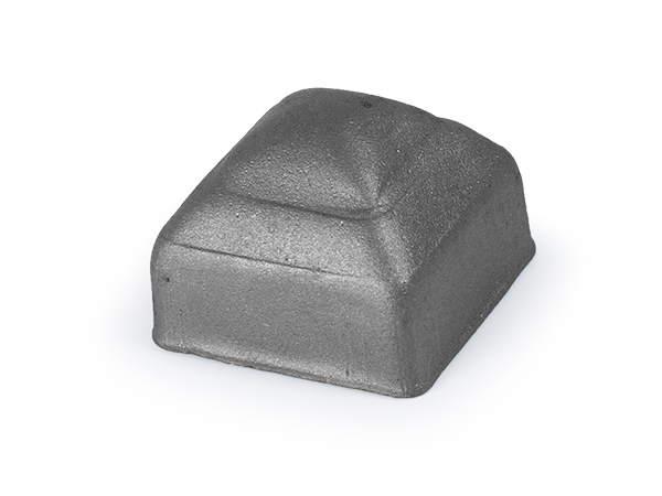 Pressed steel cap, 1 inch for 1 inch square