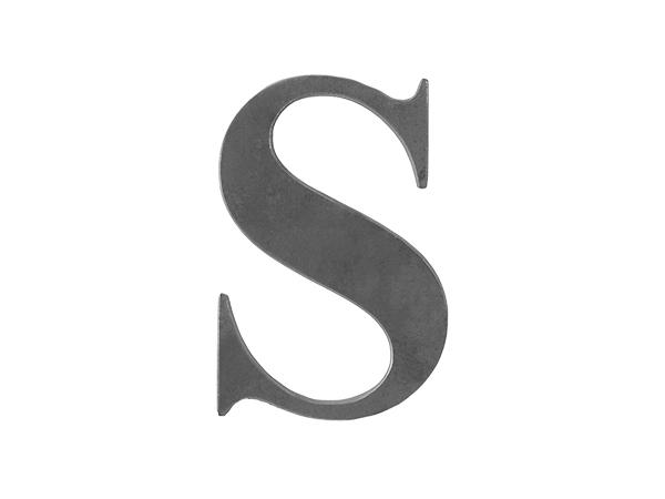 Steel letter S